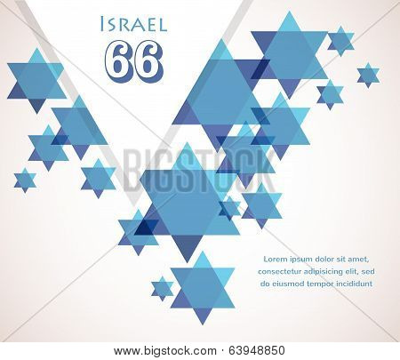 Independence day of Israel. David star background