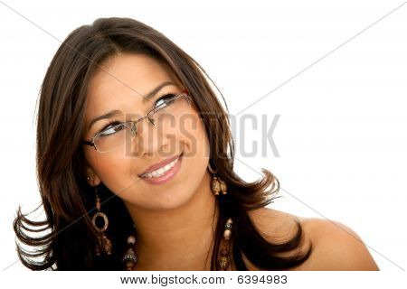 Thoughtful Woman With Glasses