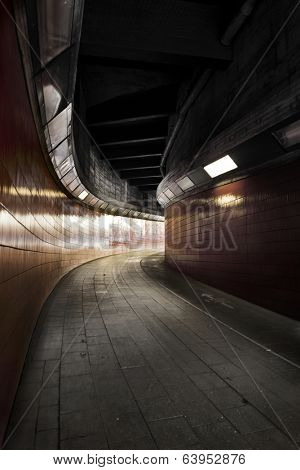 pedestrian tunnel between Westkreuz station and ICC exhibition ground in Berlin, Germany