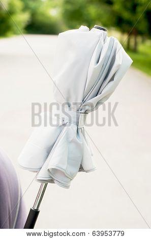 Umbrella Fixed Onto Stroller