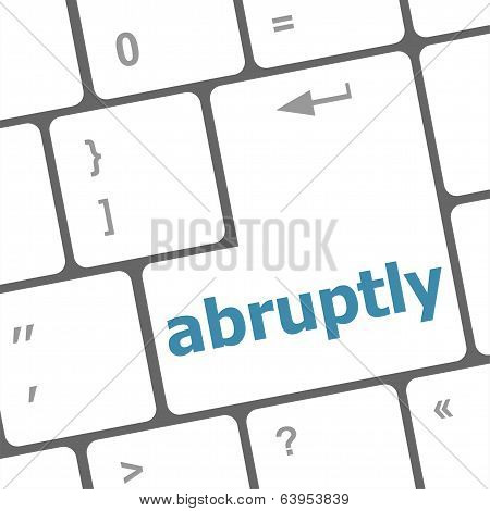 Computer Keyboard Pc With Abruptly Text