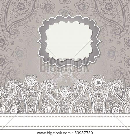 Cute Design Template.paisley Border Lace