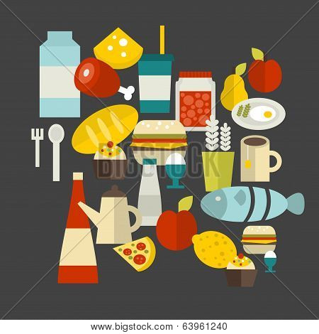 Food label. Vector illustration.