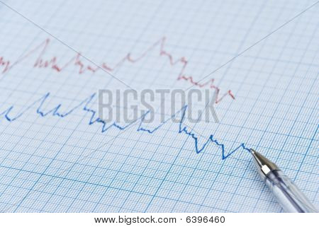 Financial Diagram In Two Colors