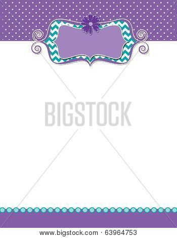 Cute Flyer Daisy Flower Dots