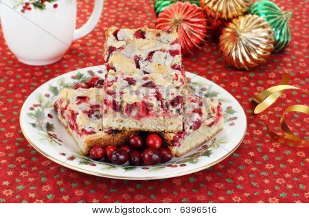 Christmas Plate Of Cranberry Nut Cookies
