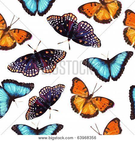 seamless pattern of butterfly