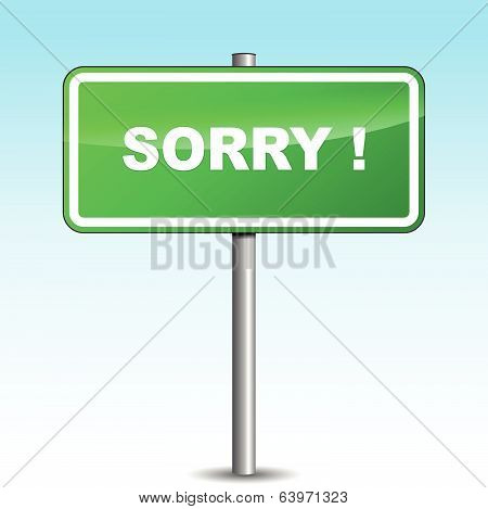 Vector Sorry Signpost