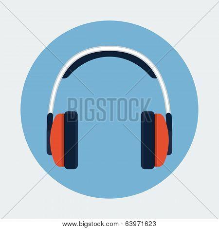 Headphone flat icon