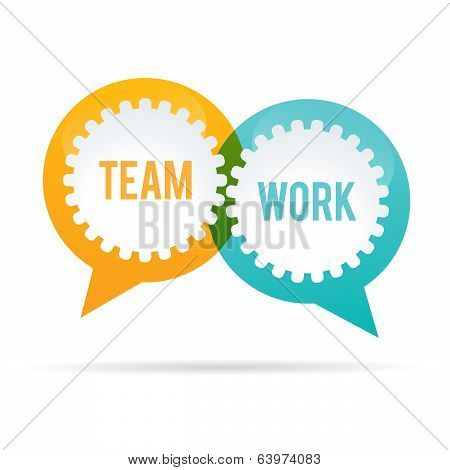 Team Work Gear Bubble