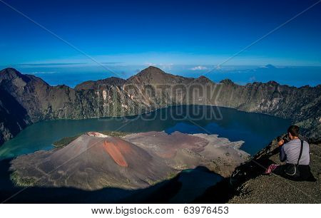 Gunung Rinjani from above