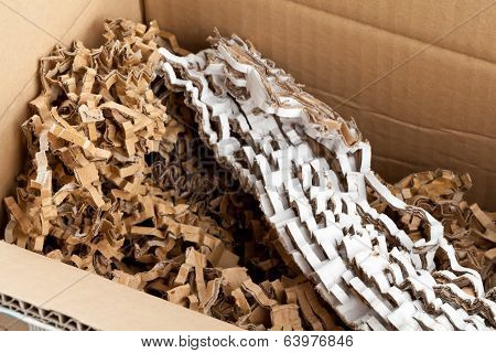 Recycled Corrugated Cardboard In Box
