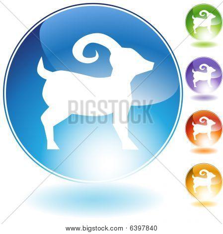 Ram Crystal Icon
