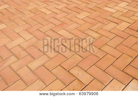 Paving Slabs In The Form Of Bricks. Background. Texture.