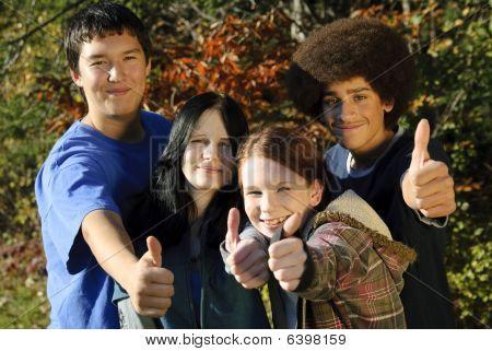 Ethnic Teen Thumbs Up