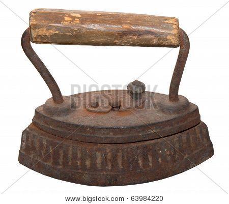 Isolated Rusty Vintage Iron
