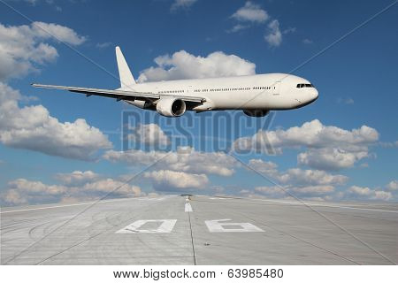 Low Pass Of White Plane