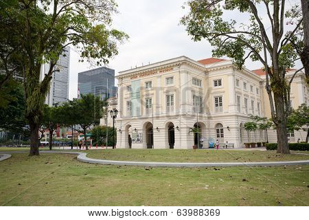 SINGAPORE - NOVEMBER 09, 2012: Asian Civilisations Museum - the museum specialises in the material history of China, Southeast Asia, South Asia and West Asia.