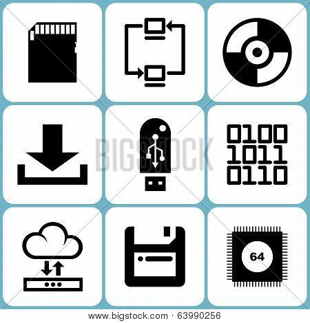 Data icons set
