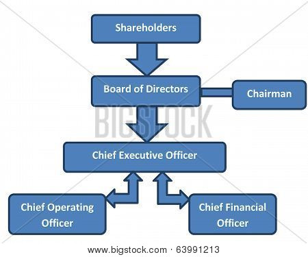 Corporate Structure Business Org Chart