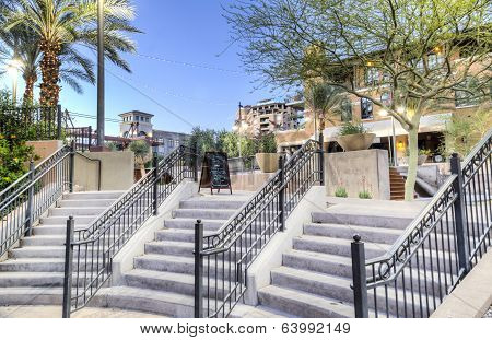 Downtown Scottsdale Arizona in the Waterfront District.