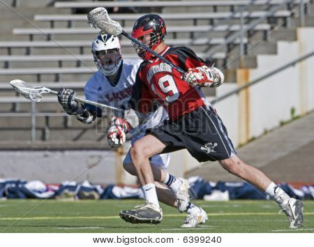 High School Boys Varsity Lacrosse eye on the ball
