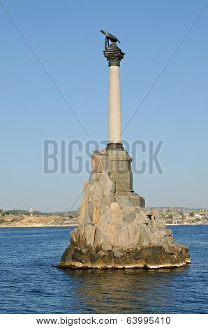 Monument To The Scuttled Ships In Sevastopol. Crimea.