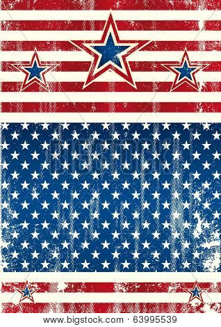 USA textured frame. An american background with a grunge texture