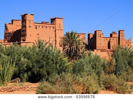 Morocco Ouarzazate - Ait Ben Haddou Medieval Kasbah built in adobe
