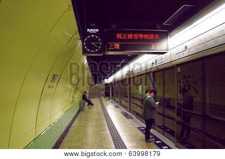 Mass Transit Railway at Hong Kong