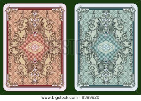 Swirled cards back