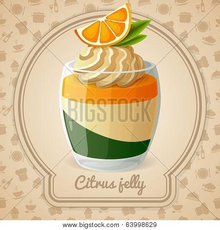 Citrus Jelly Dessert