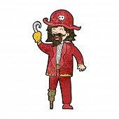 picture of peg-leg  - cartoon pirate captain - JPG
