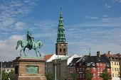 stock photo of prime-minister  - Christiansborg Palace on the islet of Slotsholmen in central Copenhagen is the seat of the Danish Parliament - JPG