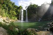 stock photo of jungle exotic  - Misol Ha waterfall Chiapas Mexico - JPG
