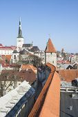 stock photo of olaf  - View to the cityscape of the old town of Tallinn Estonia - JPG