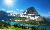 stock photo of nationalism  - Hike in Glacier National Park - JPG
