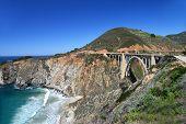 stock photo of bixby  - The Bixby Bridge on the coastal highway - JPG
