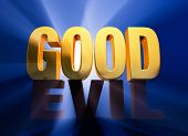 stock photo of good-vs-evil  - A bright gold  - JPG