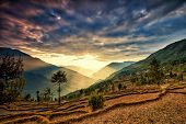 foto of nepali  - View from kalinchok Photeng towards the Kathmandu valley Nepal - JPG
