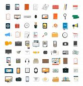 pic of financial management  - Set of various financial service items business management symbol marketing items and office equipment - JPG