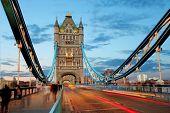 stock photo of london night  - Tower bridge  - JPG