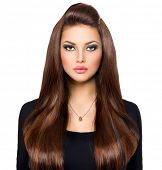 image of brunette hair  - Beauty Woman Portrait - JPG