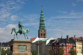 picture of prime-minister  - Christiansborg Palace on the islet of Slotsholmen in central Copenhagen is the seat of the Danish Parliament - JPG