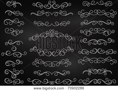 Hand Drawn Vector Flourishes and Frame with Heart