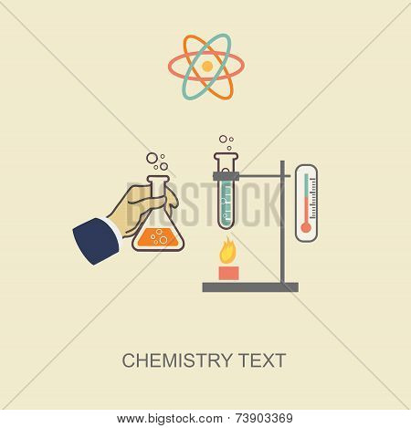 Chemistry graphic vector illustration,  template