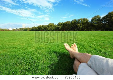Relax Barefoot Enjoy Nature
