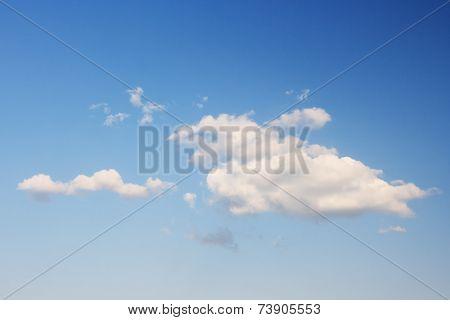 Blue Sky And Big White Cloud.