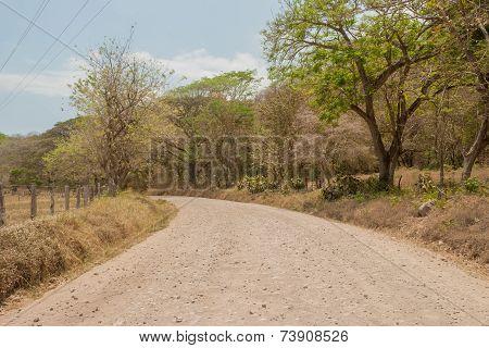 Gravel Road In Costa Rica