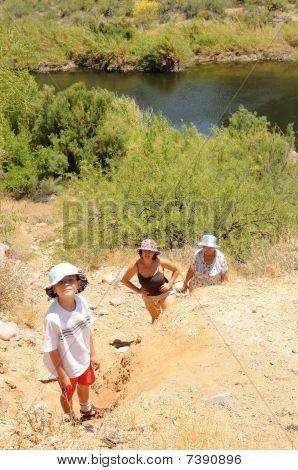 Three Generations Hiking